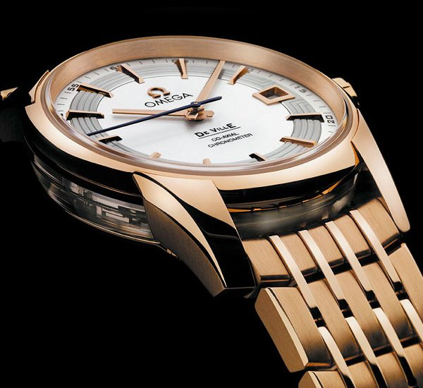 Omega De Ville Hour Vision Silver Dial Red Gold Watch 0