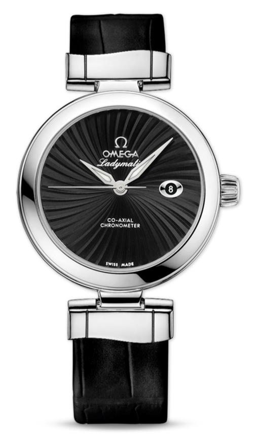 UK Omega De Ville Ladymatic Black Dial Fake Watches