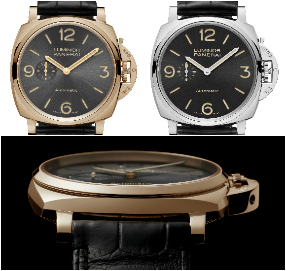Black leather strap-panerai-luminor-Replica-Watches