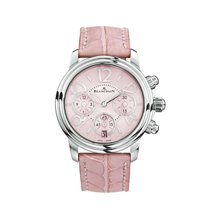 Copy Blancpain Women Watches With Pink Alligator Straps