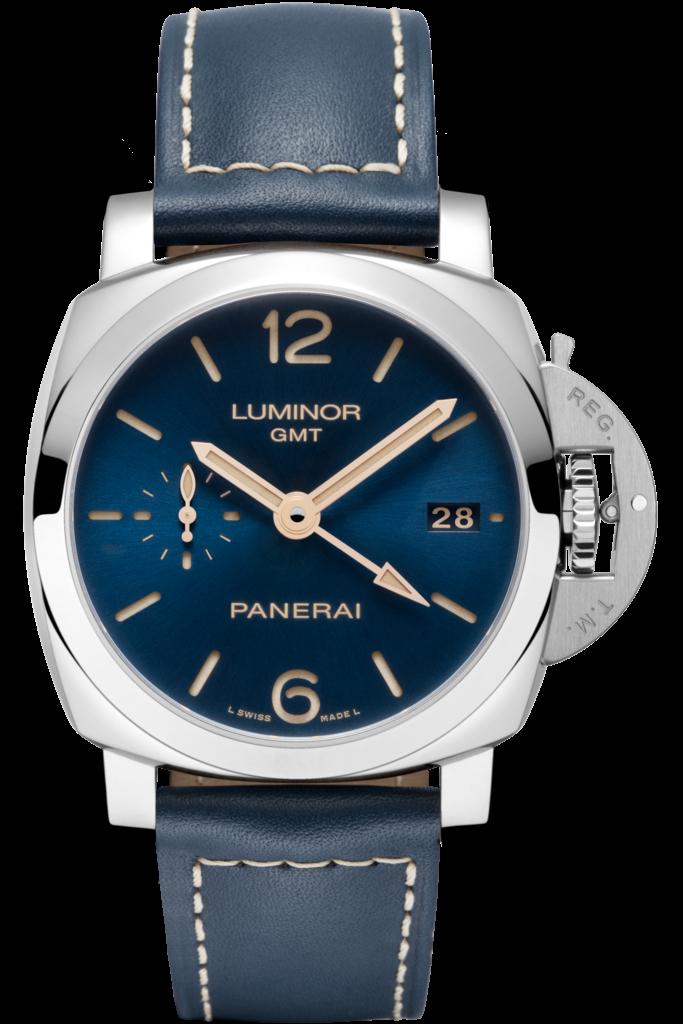Dark Blue Straps Fake Panerai Luminor 1950 GMT Watches