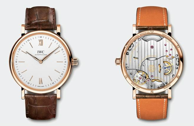 Red Gold Hands Fake IWC Portofino Watches