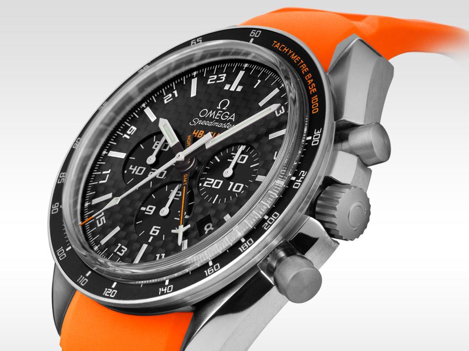 Titanium Cases Omega Speedmaster HB-SIA GMT Copy Watches