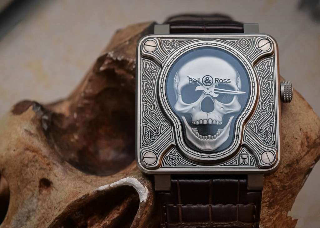 Bell & Ross BR 01 Burning Skull Fake Watches