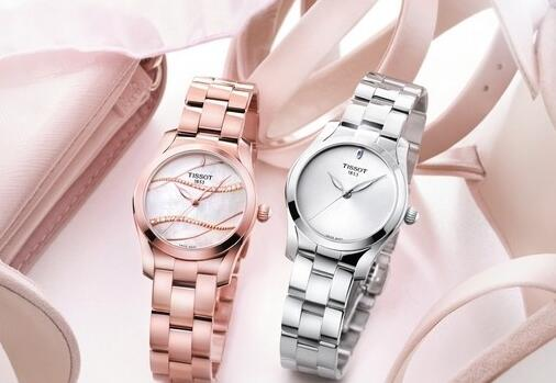 The fluent and mild curves make the Tissot very elegant and romantic.