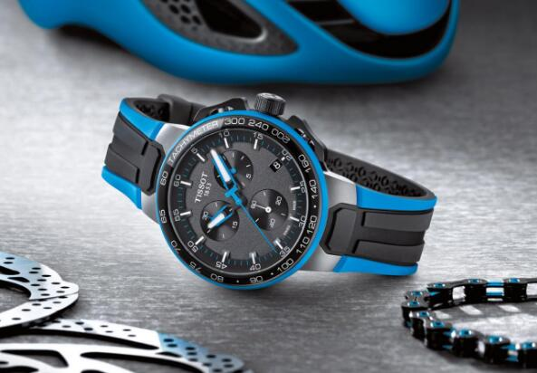 The integrated design of this Tissot Cycling edition sports a distinctive look of cycle style.