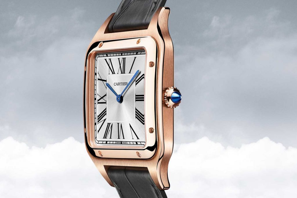 The luxury copy watches are made from 18k rose gold.