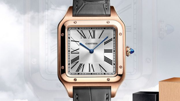 The silvery dials fake watches are designed for men.