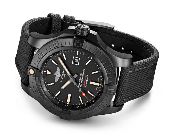 The black straps copy watches have black dials.